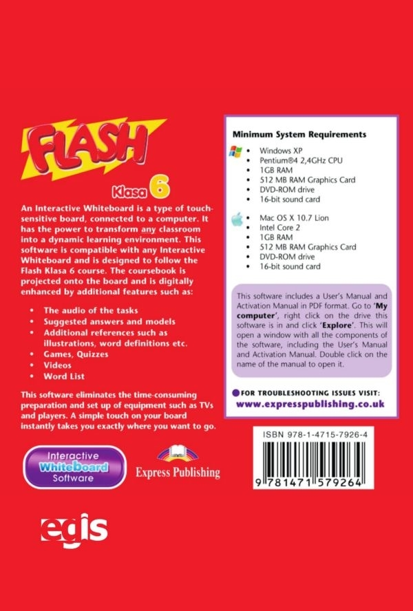 Flash Klasa 6. Interactive Whiteboard Software (płyta)