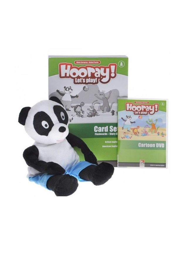 Hooray! Let's Play! level A Visual Pack (Story Cards, Flashcards, Puppet, Cartoon DVD)