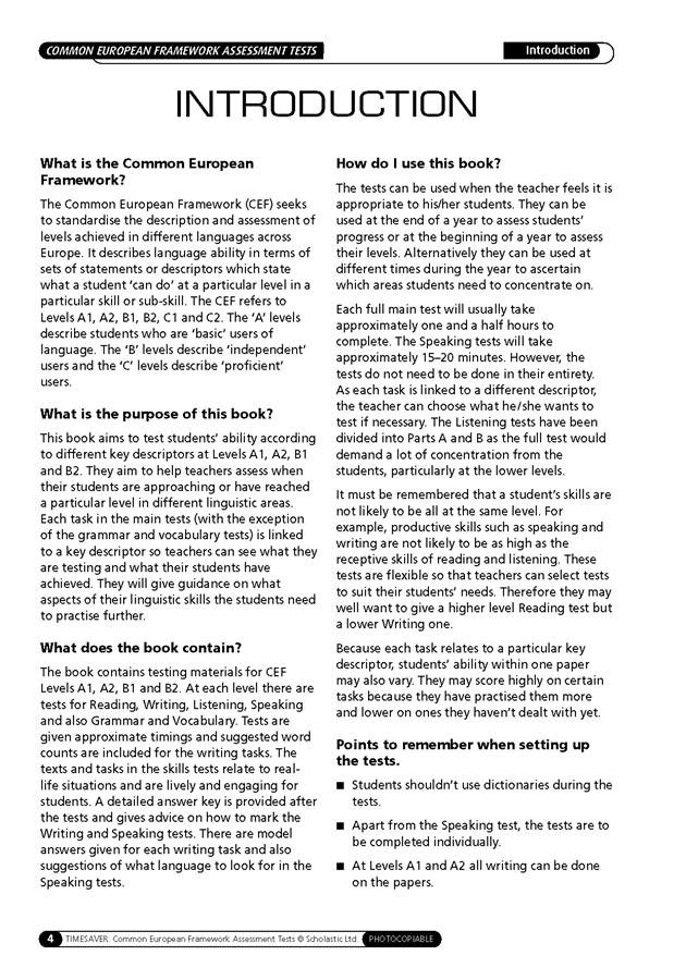 English Timesavers: Common European Framework Assessment Tests (książka + Audio CD)