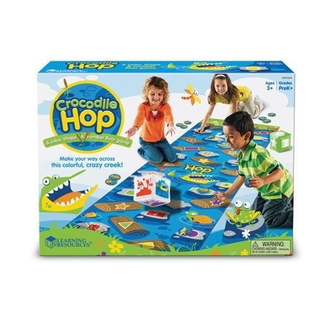 Crocodile Hop: A colour, shape & number floor game
