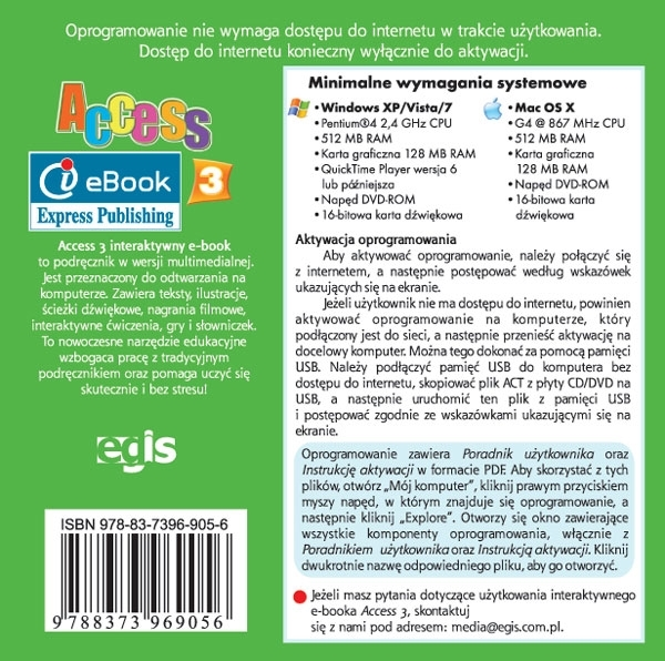Access 3. Podręcznik cyfrowy Interactive eBook (płyta)