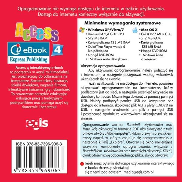 Access 4. Podręcznik cyfrowy Interactive eBook (płyta)
