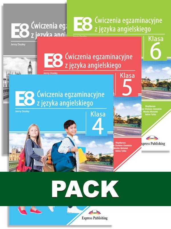 E8. Ćwiczenia egzaminacyjne. Klasa 4, 5, 6 + Klucz odpowiedzi (Pakiet)