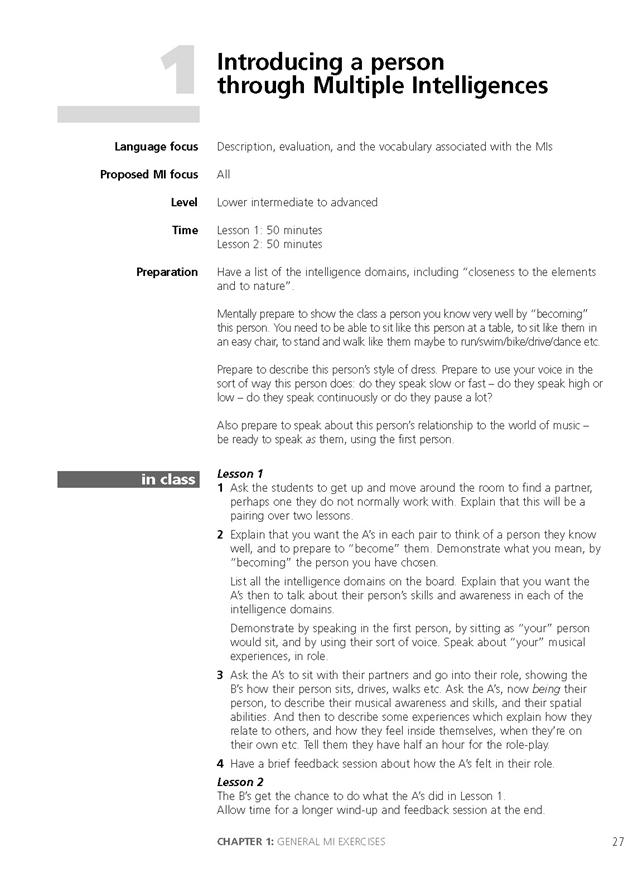 Multiple Intelligences in EFL