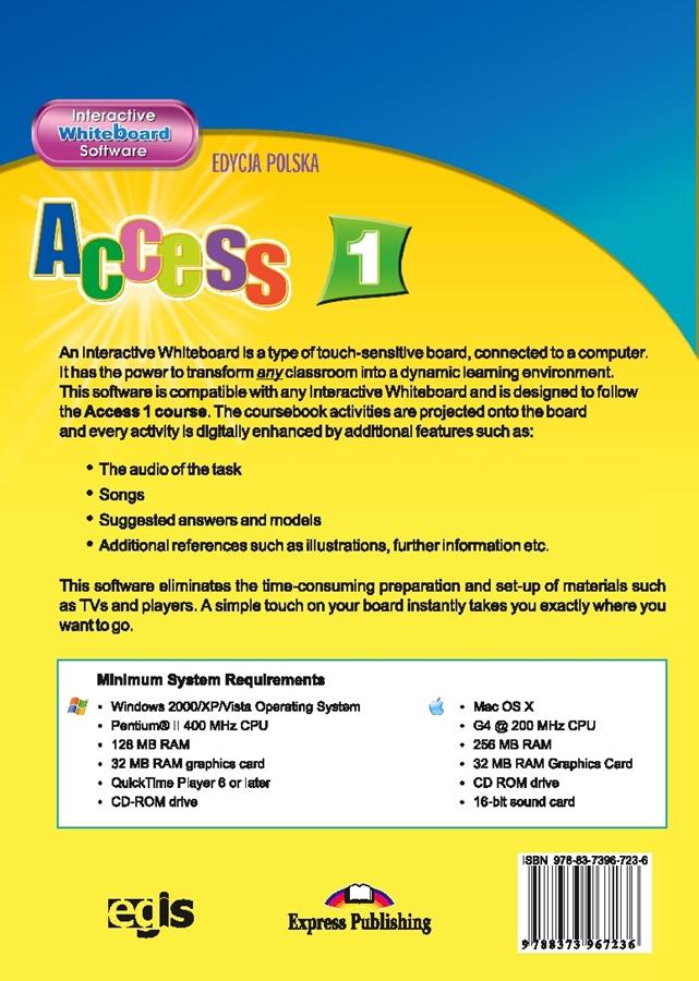 Access 1. Interactive Whiteboard Software (edycja polska)