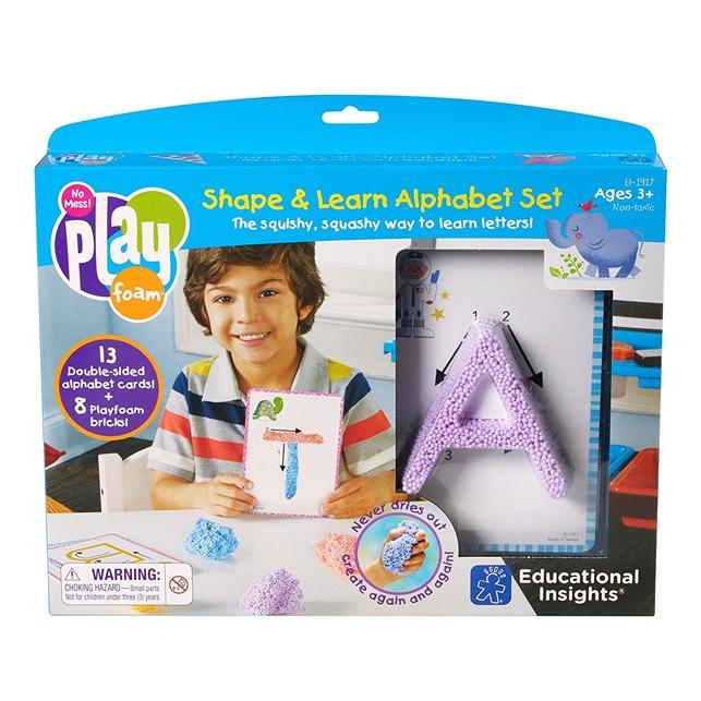Playfoam Shape and Learn alphabet set