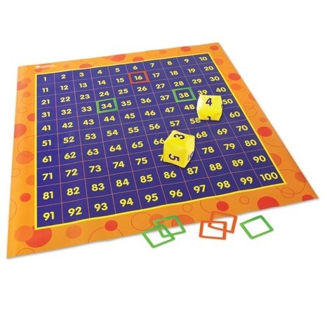 Hip Hoppin' Hundred Mat: Floor Game