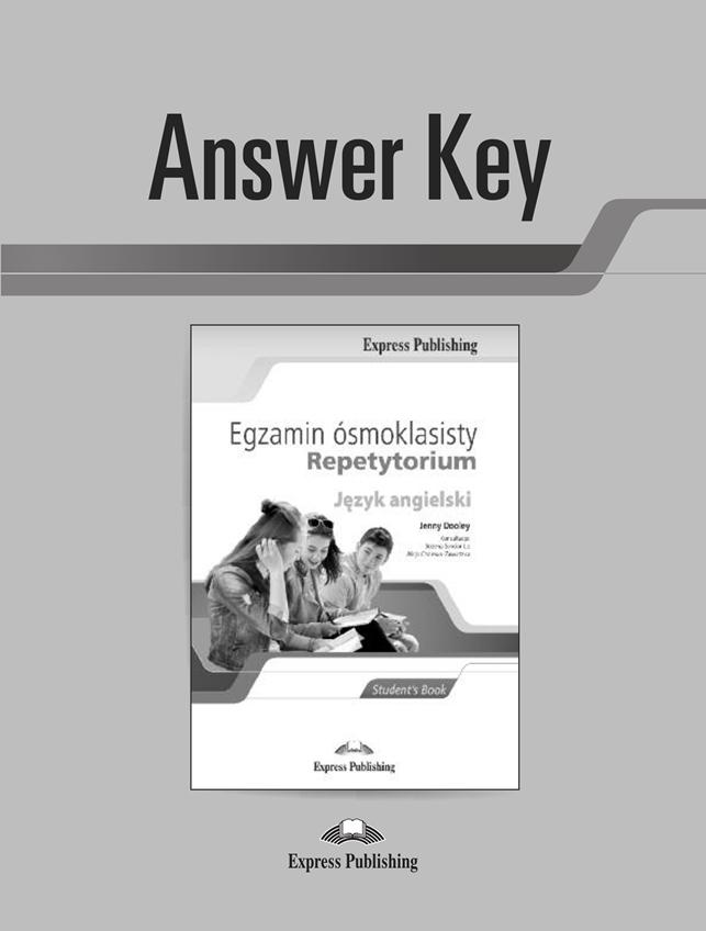 Egzamin ósmoklasisty. Repetytorium. Answer Key