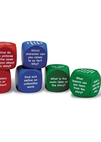 Reading Comprehension Cubes (zestaw 6 klocków)
