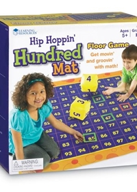 Hip Hoppin' Hundred Mat: Floor Game