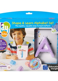 Playfoam Shape and Learn alphabet set